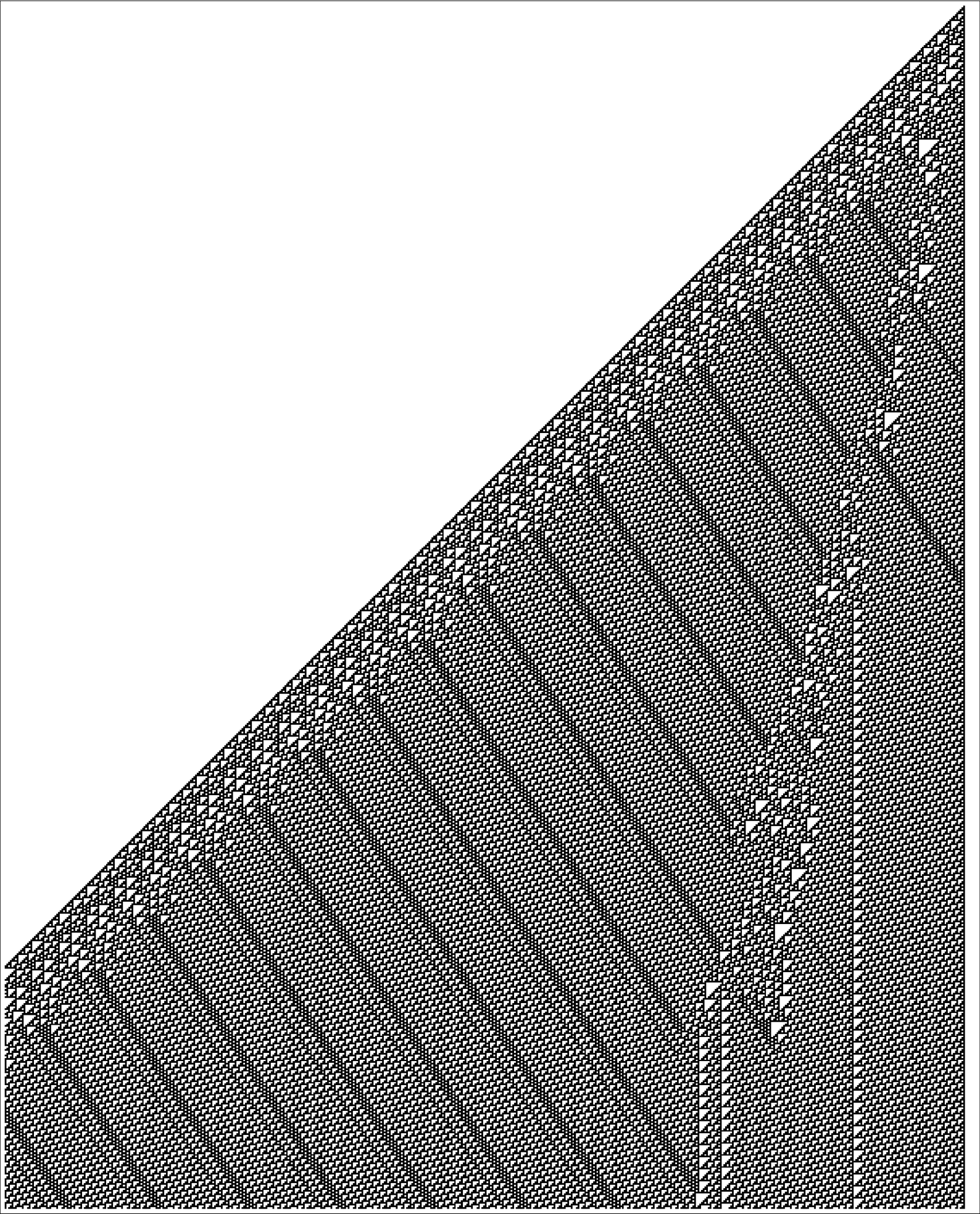 Breakdown of unique cellular automaton, continued