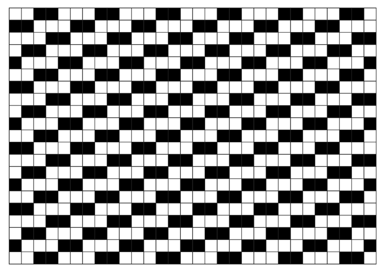 System made of grid of black and white cells