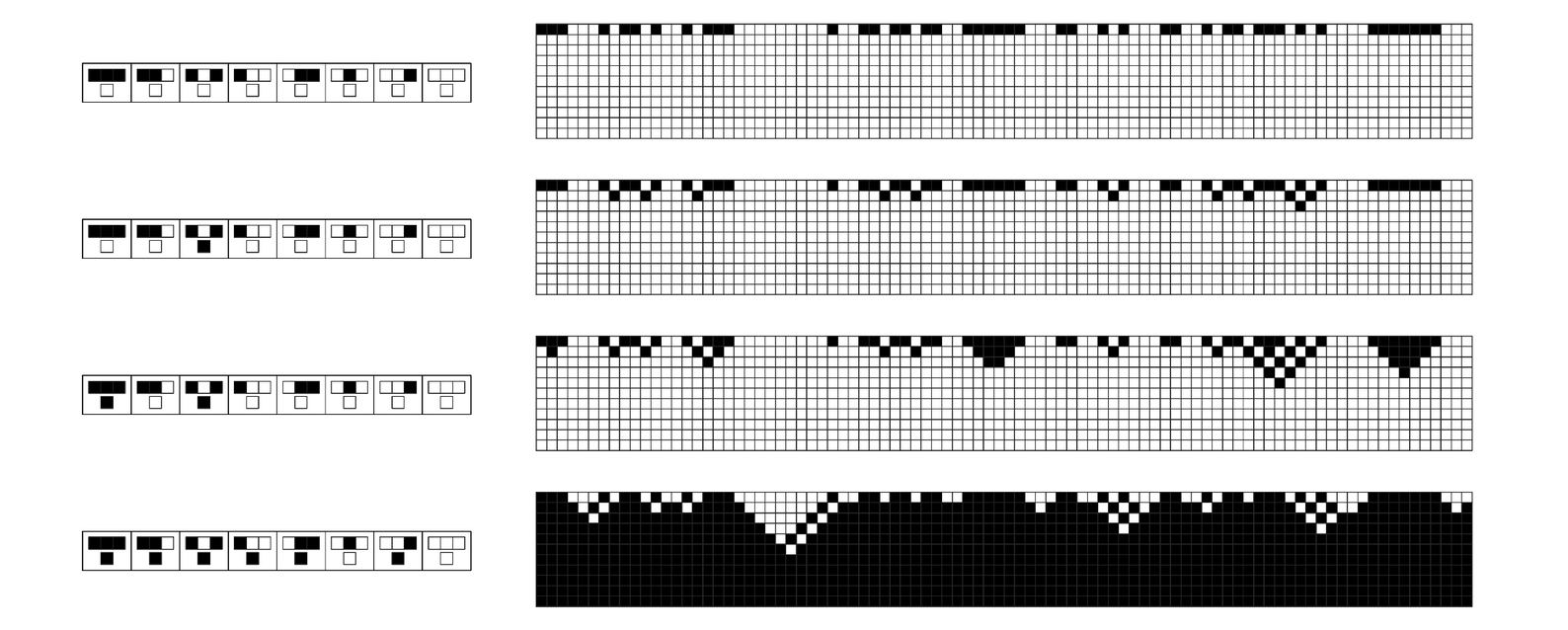 Examples of cellular automata in uniform states