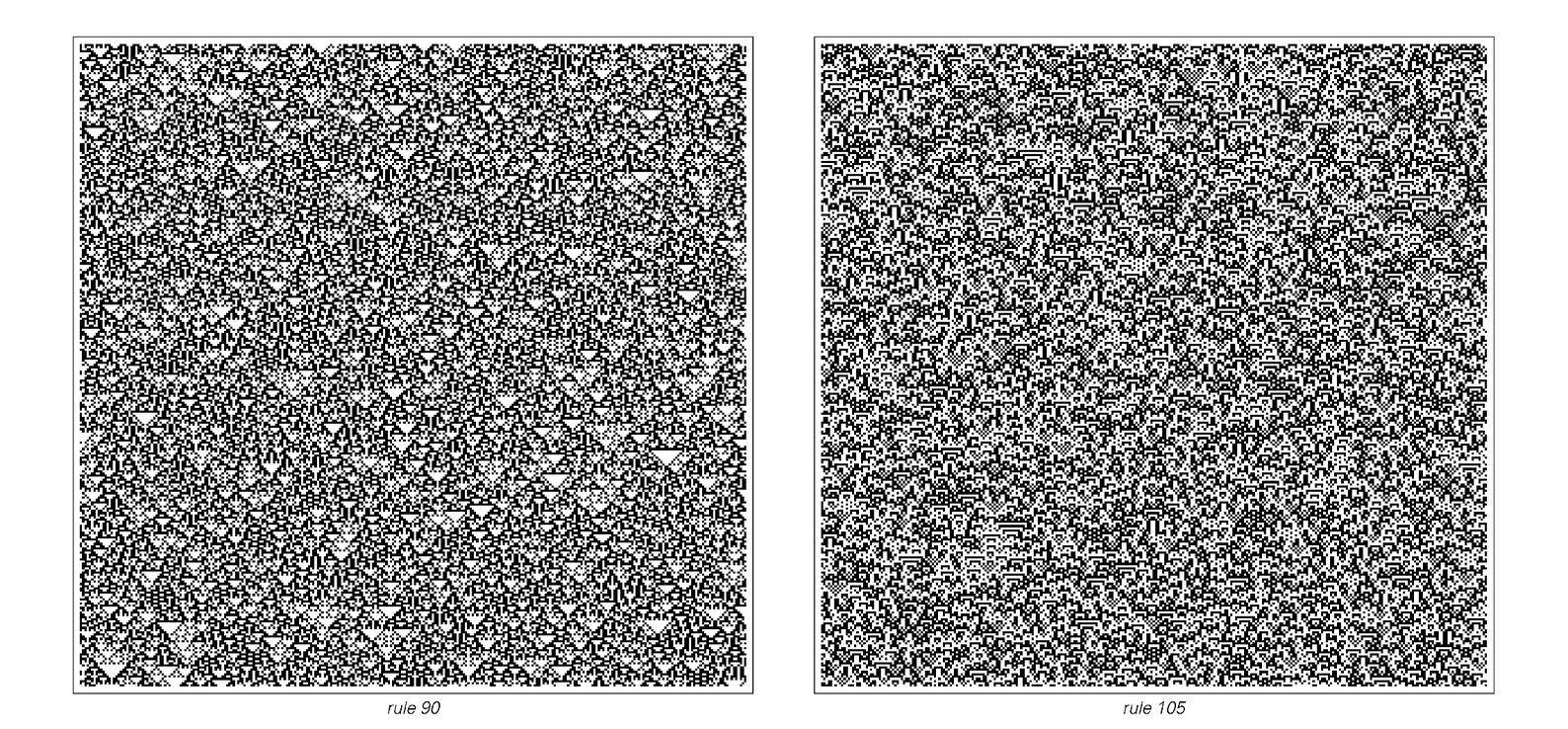 Cellular automata with small structures and random behavior