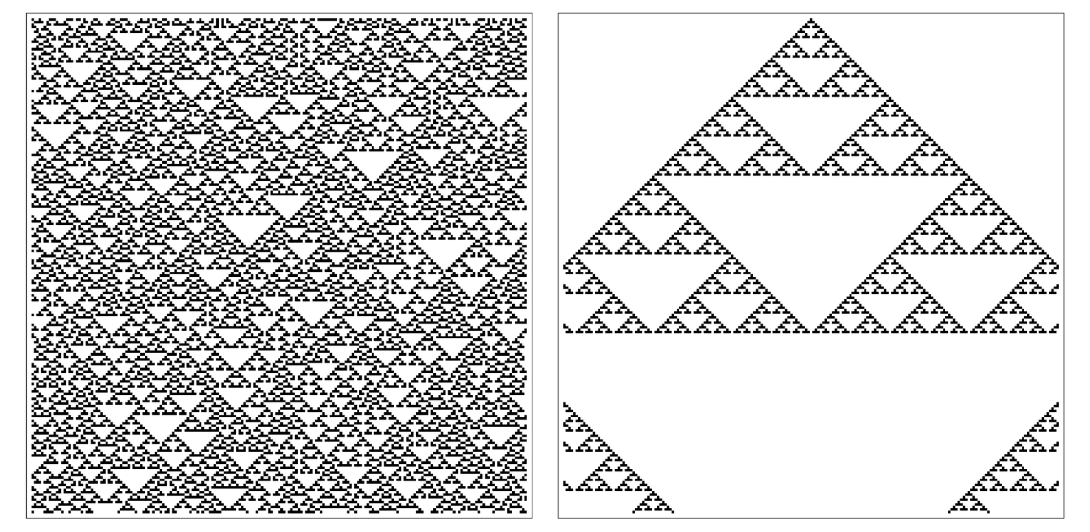 Patterns produced by rule 22