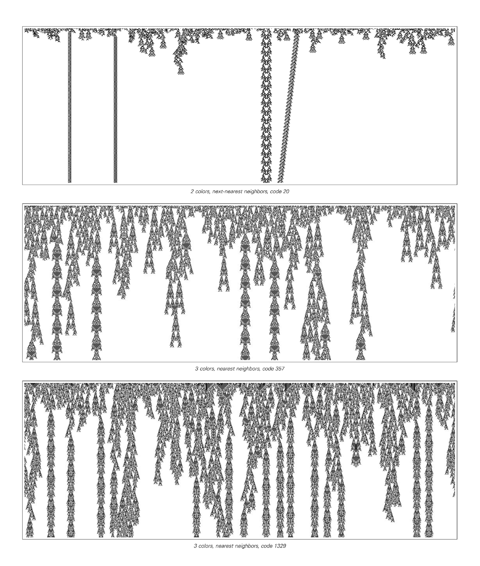 Examples of class 4 cellular automata