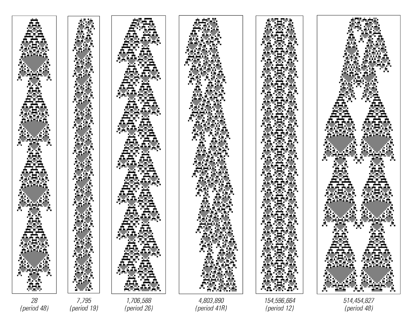 Persistent structures in code 357 cellular automaton