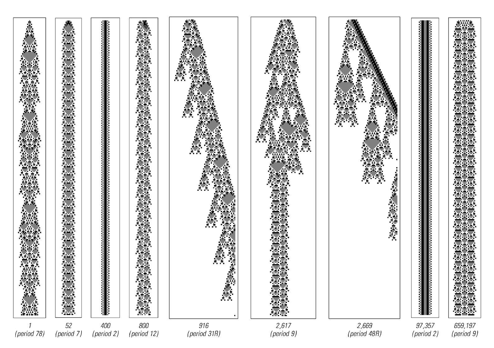 Persistent structures in code 1329 cellular automaton