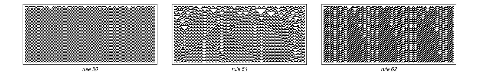 Cellular automata with walls remaining between domains of repetitive behavior