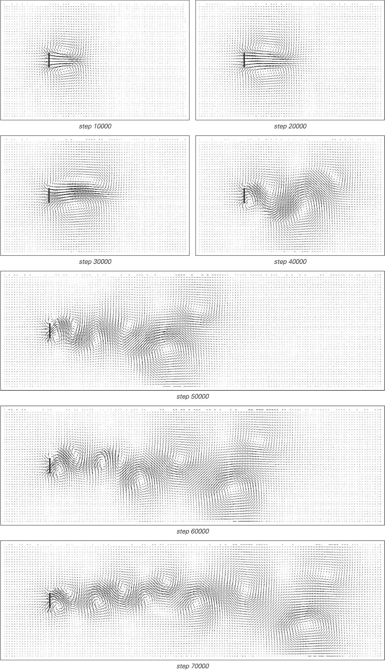 Larger example of cellular automaton system shown on previous page