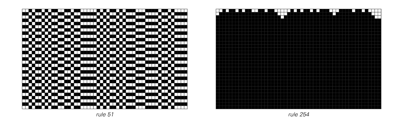 Examples of cellular automata that are and are not reversible