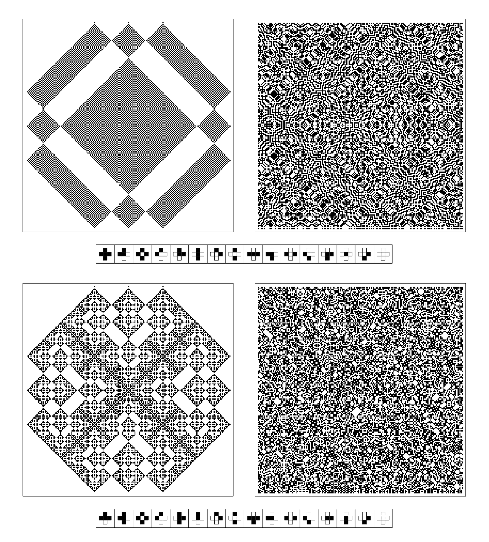 One-dimensional cellular automata with symmetry between space and time