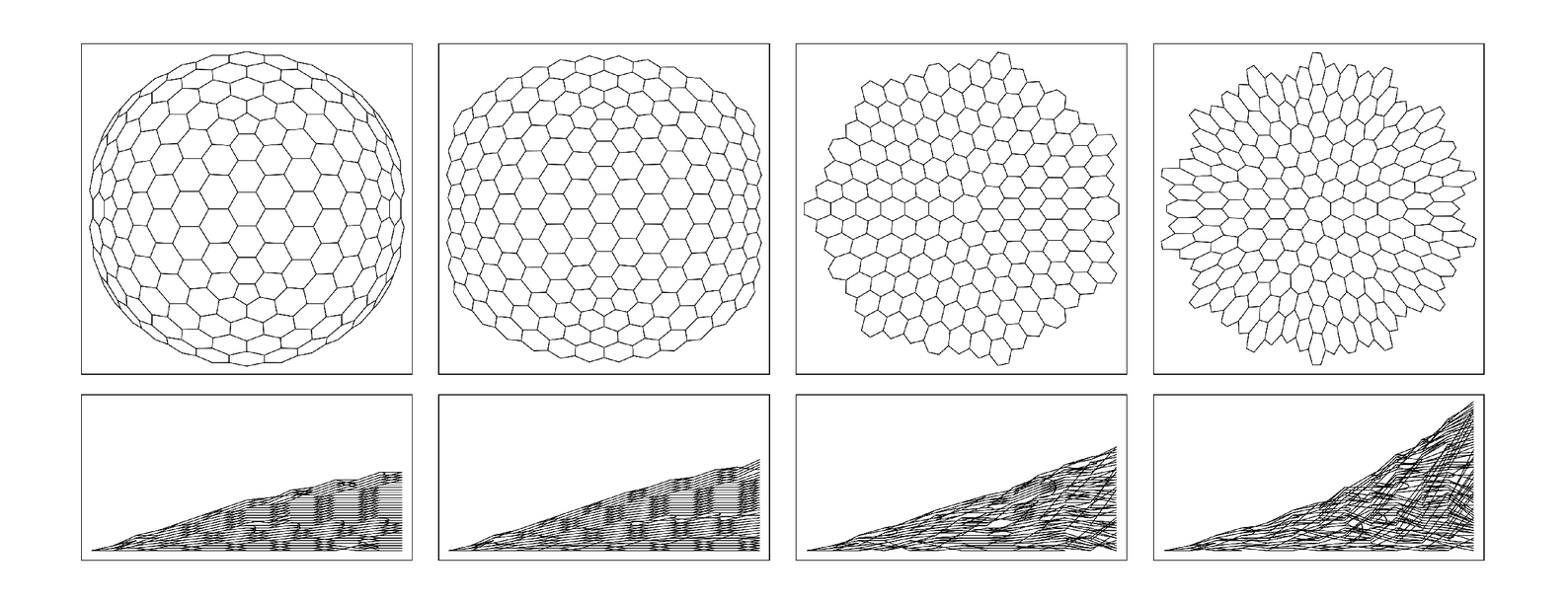 Networks with various limiting curvatures