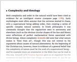 Complexity and theology