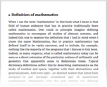 Definition of mathematics
