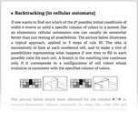 Backtracking [in cellular automata]
