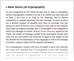 Basic theory [of cryptography]