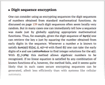 Digit sequence encryption