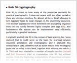 Rule 30 cryptography