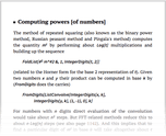 Computing powers [of numbers]