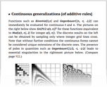 Continuous generalizations [of additive rules]