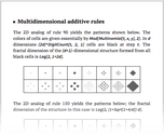 Multidimensional additive rules