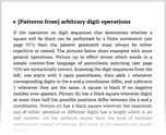 [Patterns from] arbitrary digit operations