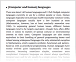 [Computer and human] languages