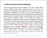 History [of ideas about thinking]