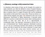 [Memory analogs with] numerical data