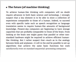 The future [of machine thinking]