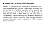 [Underlying] structure of Mathematica