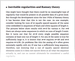 Inevitable regularities and Ramsey theory