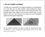 2D run-length encoding