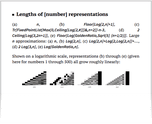 Lengths of [number] representations