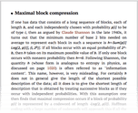 Maximal block compression