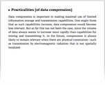 Practicalities [of data compression]