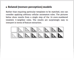 Related [texture perception] models
