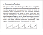 Complexity of models
