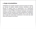 Origin of probabilities