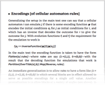 Encodings [of cellular automaton rules]
