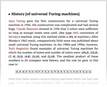 History [of universal Turing machines]