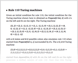 Rule 110 Turing machines