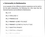 Universality in Mathematica