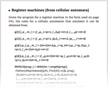 Register machines [from cellular automata]
