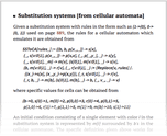 Substitution systems [from cellular automata]