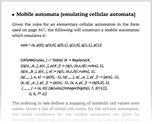 Mobile automata [emulating cellular automata]
