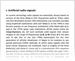 Artificial radio signals