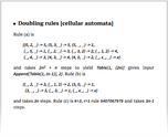 Doubling rules [cellular automata]