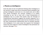 Physics as intelligence