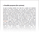 Possible purposes [for systems]