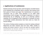 Applications of randomness
