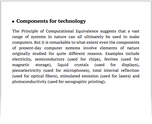 Components for technology