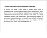 Covering [implications for] technology